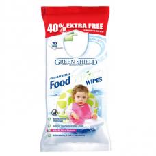 Antibakterinės Servetėlės Su Maistu Besiliečiantiems Paviršiams Valyti, Green Shield 70vnt