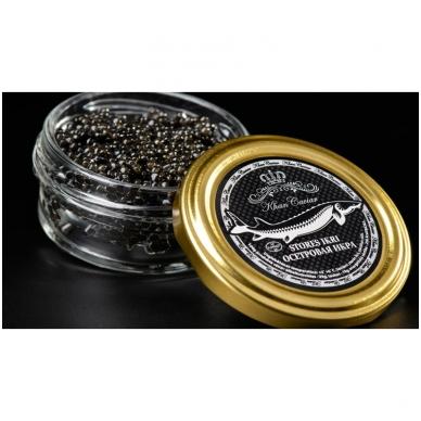Baltojo eršketo ikrai Khan Caviar, 30g 3
