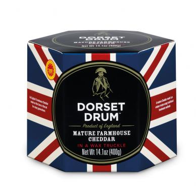 Brandintas čederio sūris DORSET DRUM, 400g