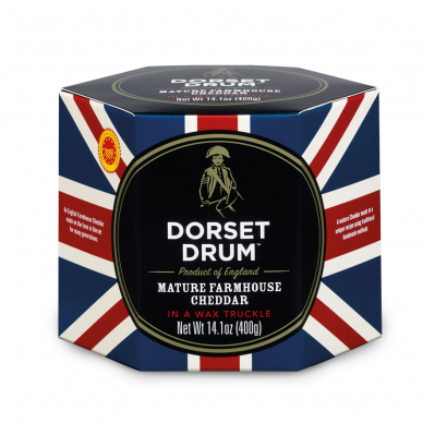 Brandintas čederio sūris DORSET DRUM, 400 g