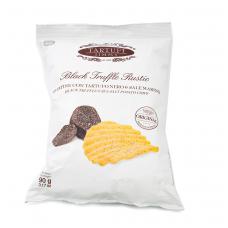 Bulvių traškučiai su juodaisiais triufeliais ir jūros druska TARTUFI JIMMY, 90 g