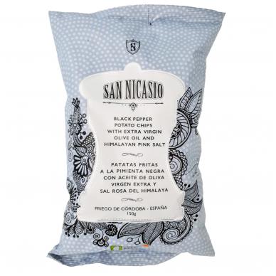 Bulvių traškučiai su juodaisiais pipirais SAN NICASIO, 150 g