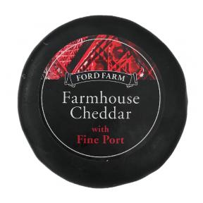 Čedaras siers ar portvīnu Ford Farm, 200g