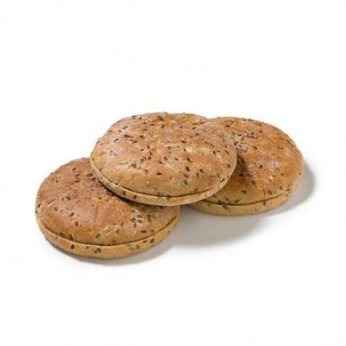 Duona Hamburger Polarbrod su sėklų mišiniu, 10 cm, 1 pak. - 6 vnt.*67,5 g (ŠALDYTA)