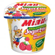"""EKO jogurtas """"MIAU"""" su avietėmis, 3,2%, 125g"""