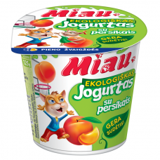 """EKO jogurtas """"MIAU"""" su persikais, 3,2%, 125g"""