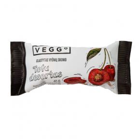 Stiklots ķiršu garša Tofu deserts Veggo, 40g