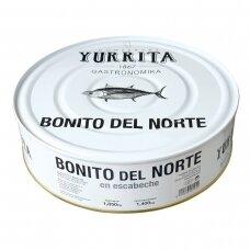 Ilgapelekis tunas alyvuogių aliejuje, 1850 g