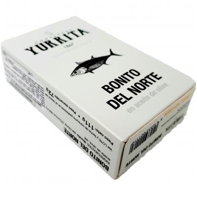 Ilgapelekis tunas alyvuogių aliejuje, 111g