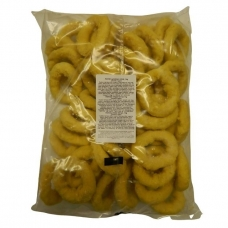 Kalmarų žiedai, tešloje, ~52 vnt., 1 kg (ŠALDYTA)