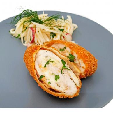 Keptas vištienos kepsnys su kumpio ir sūrio įdaru Cordon Bleu, 190 g (ŠALDYTA) 3