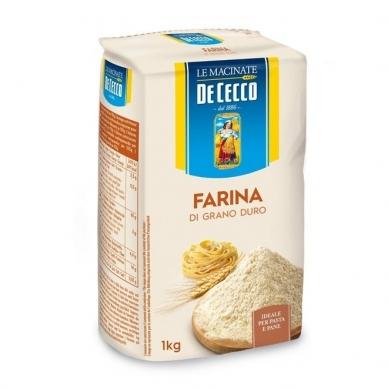 Kvietiniai miltai Farina Di Grano Duro, DeCecco, 1 kg