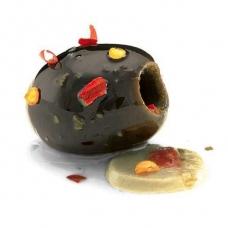 Marinuotos juodosios alyvuogės, aliejuje,  Ralo, 135g (grynas svoris), sveriama prekė