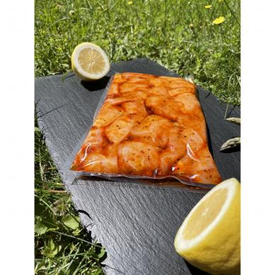 Marinuotas vištienos krūtinėlės šašlykas Orange-Pepper, 800 g
