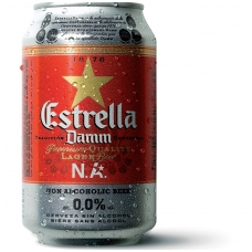 Nealkoholinis alus ESTRELLA DAMM , 0,33L