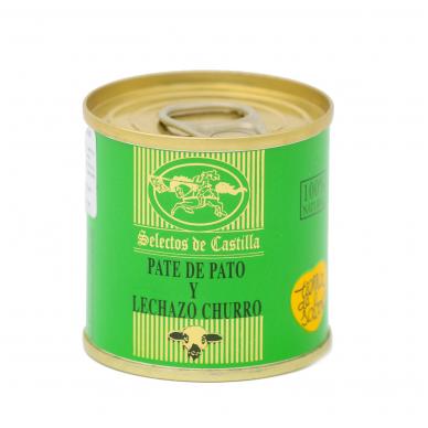 Pieninio ėriuko ir anties kepenėlių paštetas SELECTOS DE CASTILLA, 95 g