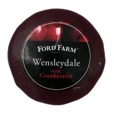 Pusiau kietas sūris Wensleydale su spanguolėmis Ford Farm, 200g