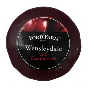 Puscietais Wensleydale siers ar dzērvenēm Ford Farm, 200g