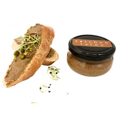 Putpelių kepenėlių ir širdelių paštetas su pistacijomis, 100 g