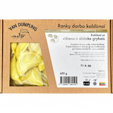 Rankų darbo koldūnai su vištiena ir šiitake grybais, Van Dumpling, 450 g