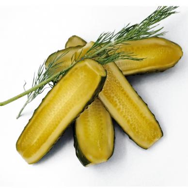 Šviežiai raugti agurkai, 400 g gryno svorio 2