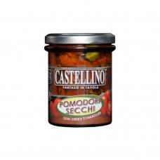Saulėje džiovinti pomidorai su žolelėmis, aliejuje, Castellino, 180g