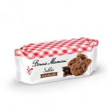 Sausainiai smėlinės tešlos su šokolado gabaliukais, Bonne Maman, 150 g