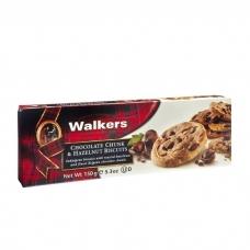 Sausainiai su šokoladu ir lazdynų riešutais, Walkers, 150 g