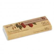 Šokoladas 96%, mažai cukrų, 18 g