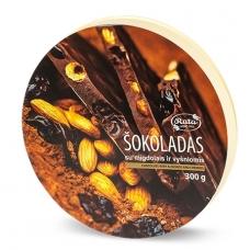 Šokoladas su migdolais ir vyšniomis, 300 g (dėžutėje)