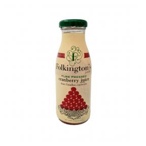 Dzērveņu sulas dzēriens FOLKINGTON'S, 250ml