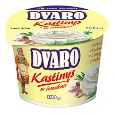 Kastinys su česnakais DVARO, 30% rieb., 180 g