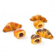 Sviestiniai rageliai su įdaru (abrikosas, avietė, lazdyno riešutai), mini, Vandemor, 40 g (ŠALDYTA)