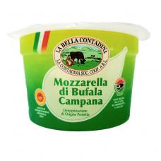 Šviežias sūris Mozzarella iš buivolių pieno, La Contadina,  rieb. 52%, 200 g