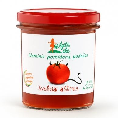 Švelniai aštrus naminis pomidorų padažas, Agilės ūkis, 320 g