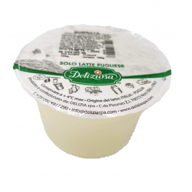 Šviežias sūris Burrata, rieb. 50%, Deliziosa, 100 g