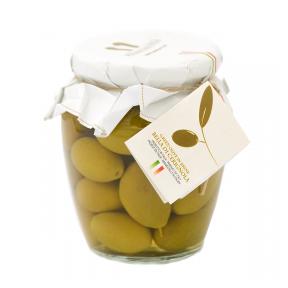 Zaļās lielās olīvas PRIMADAUNIA, lielums 3G, 580ml